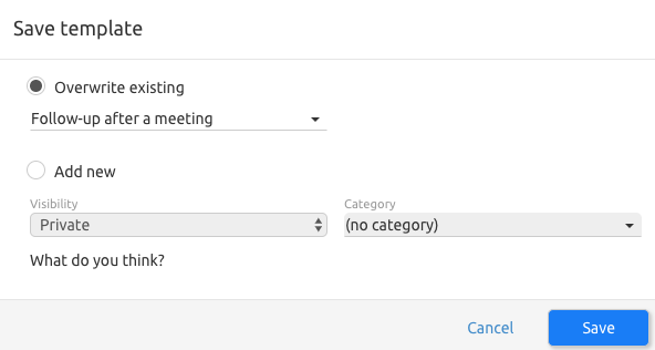 Managing Email Templates Livespace Crm