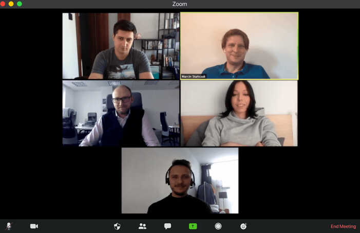 An example of a meeting in Zoom